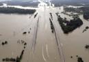 Le alluvioni in Texas viste dall'alto
