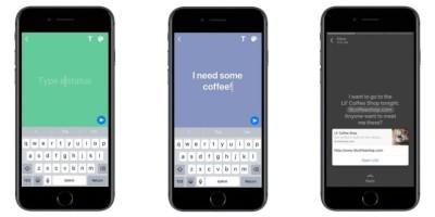 Ora nello status di WhatsApp si possono usare scritte su sfondo colorato e link