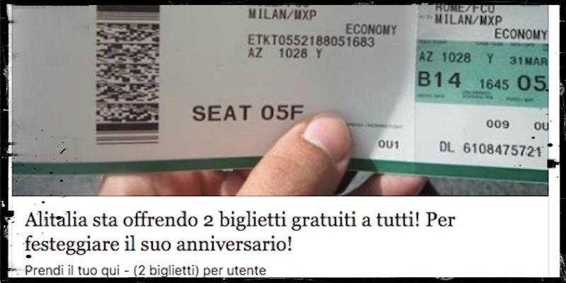 biglietto aereo alitalia