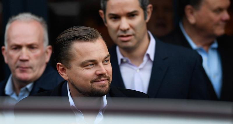 Leonardo Di Caprio Has Lunch At The Social Bite Cafe