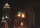 L'incendio al Marina Torch di Dubai, di nuovo