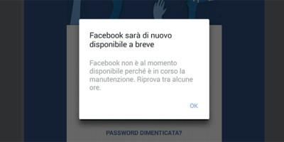 Ieri pomeriggio Facebook e Instagram hanno avuto dei problemi