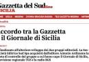 Il Giornale di Sicilia e la Gazzetta del Sud si uniranno in un unico gruppo editoriale
