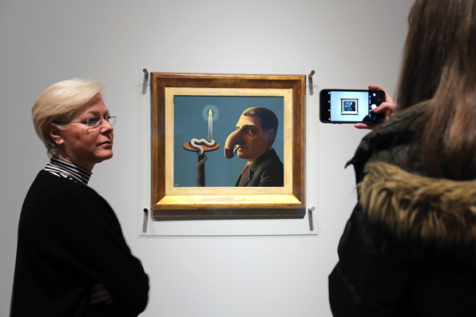 'Rene Magritte - The Treachery of Images' Exhibition In Frankfurt am Main