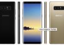 Sono trapelate alcune immagini del Galaxy Note 8 di Samsung