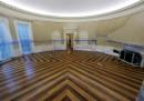 Washington, l'ufficio ovale della Casa Bianca durante i lavori di ristrutturazione
