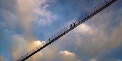 Le foto dal ponte sospeso più lungo del mondo