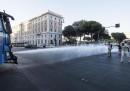 ++ Migranti sgomberati a Roma: bombole contro agenti ++