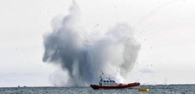 L'incidente dell'aereo militare precipitato in mare a Terracina