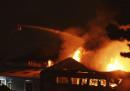 Il grande incendio in un magazzino a Londra