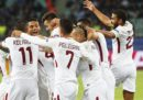 La Roma ha battuto 2-1 il Qarabag a Baku, in Champions League