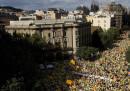 Le foto dalla marcia per l'indipendenza catalana