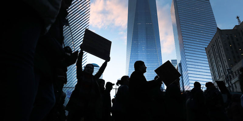 Rally And March In NYC Protests Refugee And Muslim Ban