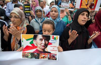 Proteste per i rohingya