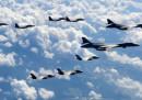 Un gruppo di aerei militari americani ha volato vicino alle coste della Corea del Nord