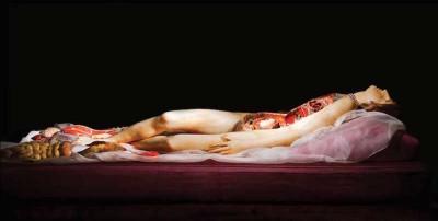 Donne di cera scomponibili, con gli organi in bella vista