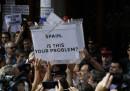 Le proteste a Barcellona contro la Spagna
