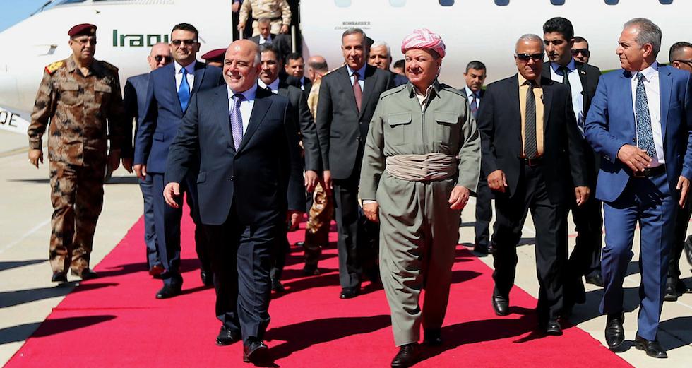 Haider al-Abadi, Masoud Barzani