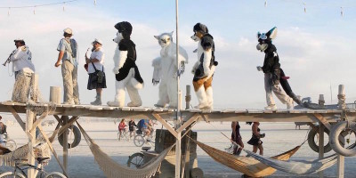 Foto dal festival di Burning Man