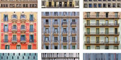 Le facciate di Barcellona fotografate