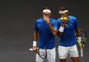 Federer e Nadal, dalla stessa parte della rete