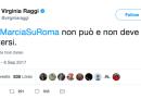 """Virginia Raggi contro la """"marcia su Roma"""" di Forza Nuova"""