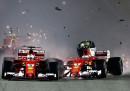Il video dell'incidente che ha coinvolto le Ferrari nel Gran Premio di Formula 1 di Singapore