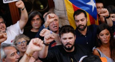 Gabriel Rufián, simbolo giovane e spaccone del referendum in Catalogna