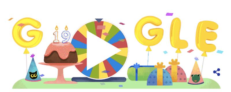 cos 39 la ruota della fortuna per il compleanno di google