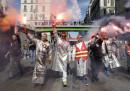 Il primo sciopero contro Macron
