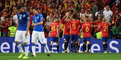 Spagna-Italia è finita 3-0