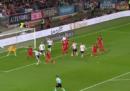 Il gol di tacco di Leon Goretzka in Germania-Azerbaigian