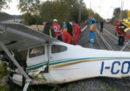Un aereo ultraleggero è caduto sulla ferrovia dell'alta velocità a Roma