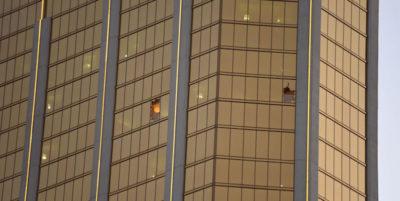 Le foto della camera dell'uomo che ha sparato a Las Vegas