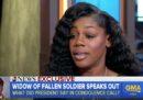 La vedova di un soldato statunitense ha criticato Trump perché non si ricordava il nome di suo marito durante la telefonata di condoglianze