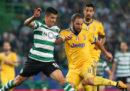 La Juventus ha pareggiato 1 a 1 contro lo Sporting Lisbona nella quarta partita dei gironi di Champions League