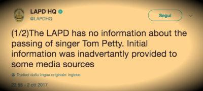 Sulla morte di Tom Petty
