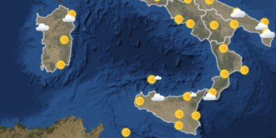 Le previsioni del tempo per venerdì 13 ottobre