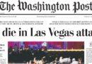 Le prime pagine dei giornali statunitensi sulla strage di Las Vegas