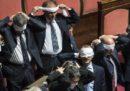 Le foto delle proteste di ieri al Senato