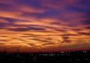 Le foto del tramonto bellissimo di domenica