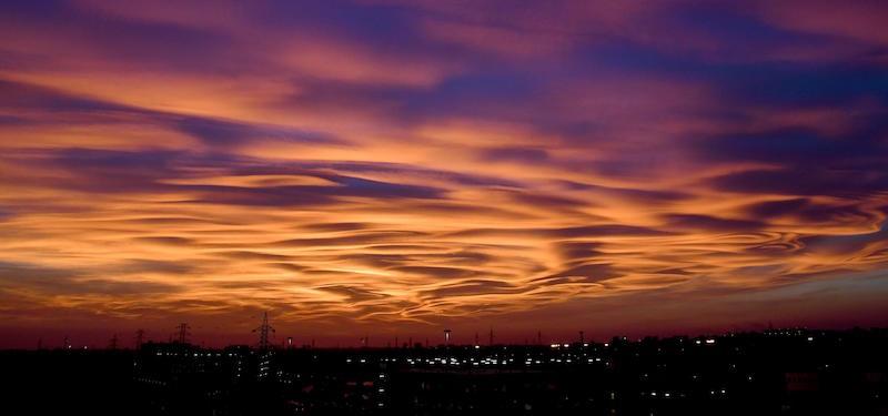Le foto del tramonto bellissimo di domenica il post for Immagini spettacolari per desktop