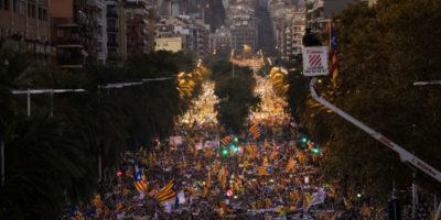 La nuova grossa manifestazione a Barcellona