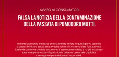 La notizia falsa del richiamo della passata di pomodoro Mutti