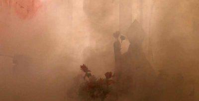 Foto della processione del fumo profumato, in Spagna