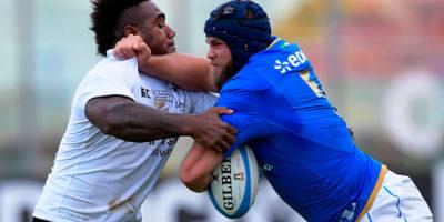 La Nazionale italiana di rugby ha vinto contro Figi