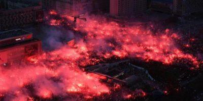 Le foto della minacciosa manifestazione nazionalista di ieri a Varsavia