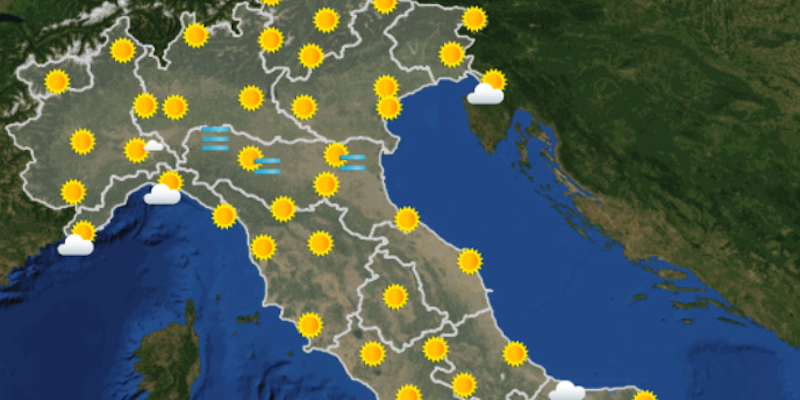 Previsioni del tempo per Viterbo, Lazio e Italia del 22/11/2017