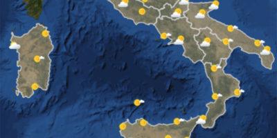 Le previsioni del tempo per venerdì 24 novembre