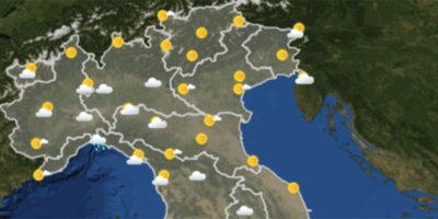 Le previsioni del tempo mercoledì 22 novembre